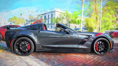 Poster featuring the photograph 2017 Chevrolet Corvette Gran Sport  by Rich Franco