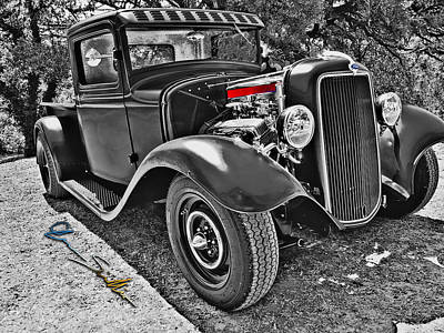 34 Ford Rat Rod Pickup Poster