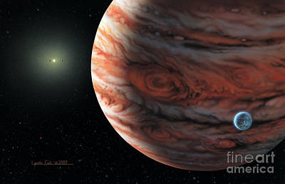 55 Cancri 2007 Poster by Lynette Cook