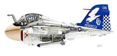 A-6e Intruder Caricature Poster