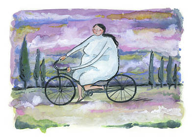 Poster featuring the painting A Beautiful Day For A Ride by Leanne WILKES