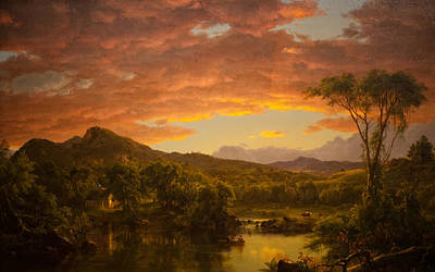 A Country Home Poster by Frederic Edwin Church