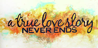 A Love Story Never Ends Poster by Ivan  Guaderrama