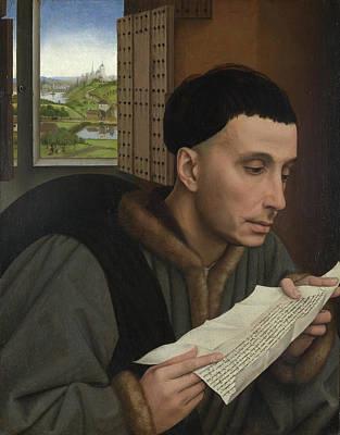 A Man Reading Poster by Rogier van der Weyden