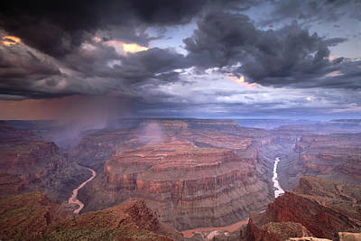 A Monsoon Storm In The Grand Canyon Poster