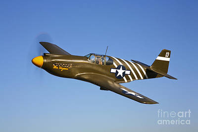 A P-51a Mustang In Flight Poster