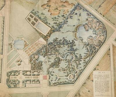 A Plan Of The Petit Trianon And Its Gardens Poster by MotionAge Designs