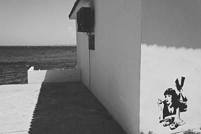 A Street Scene In Bozcaada Poster