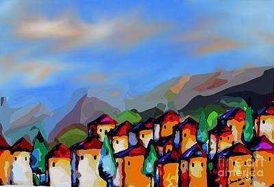 A Tuscan Village Poster