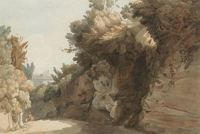 A View Near The Arco Scuro, Looking Towards The Villa Medici, Rome Poster