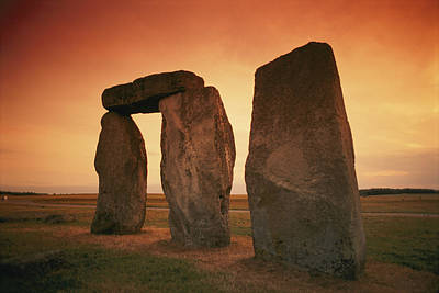 A View Of Stonehenge In The Early Poster