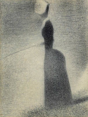 A Woman Fishing Poster by Georges-Pierre Seurat