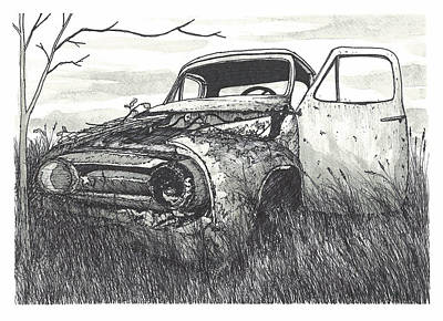 Abandoned Car Poster