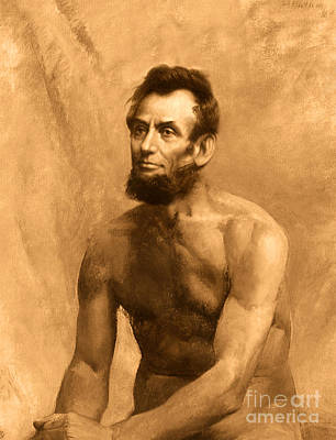 Abraham Lincoln Nude Poster