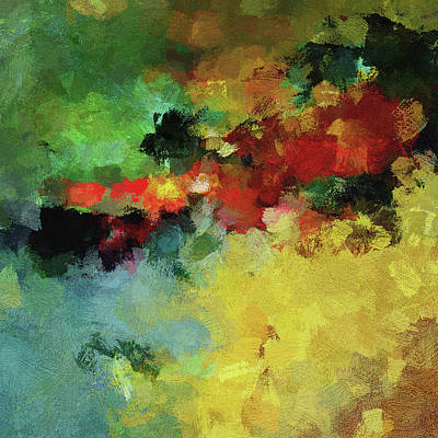 Abstract And Minimalist  Landscape Painting Poster