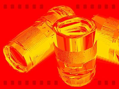 Abstract Camera Lenses Poster