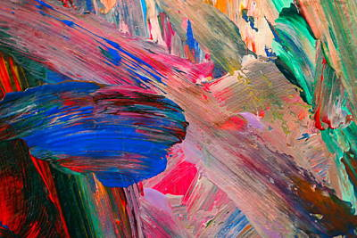 Abstract Paint Poster by Jeff Swan