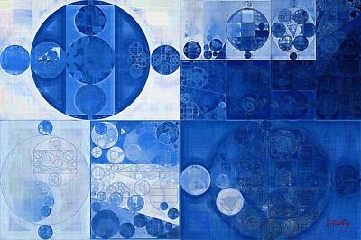 Abstract Painting - Beau Blue Poster by Vitaliy Gladkiy