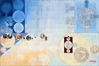 Abstract Painting - Carolina Blue Poster by Vitaliy Gladkiy