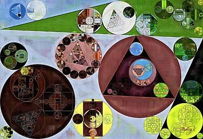 Abstract Painting - Nebula Poster by Vitaliy Gladkiy