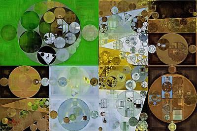 Abstract Painting - Pesto Poster by Vitaliy Gladkiy