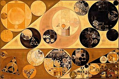 Abstract Painting - Rich Gold Poster by Vitaliy Gladkiy