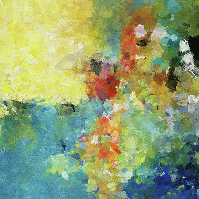Abstract Seascape Painting Poster by Ayse Deniz