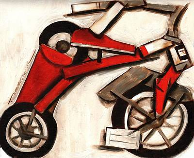 Abstract Tricycle Art Print Poster