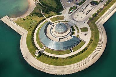 Adler Planetarium Aerial Poster