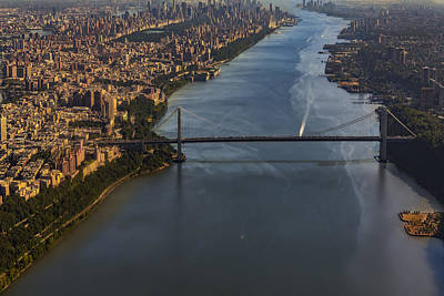 Aerial View Of The Gw Bridge Poster by Susan Candelario