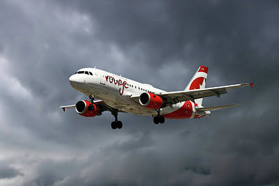 Air Canada Rouge Airbus A319-114 Poster