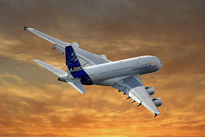 Airbus International Airbus A380 Poster