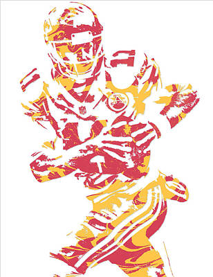 Alex Smith  Kansas City Chiefs Pixel Art Poster