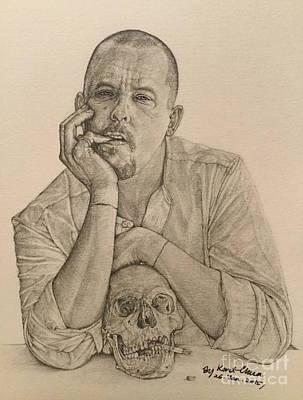 Alexander Mcqueen Hand-drawn Poster