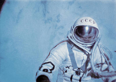 Alexei Leonov, First Space Walk, 1965 Poster by Ria Novosti