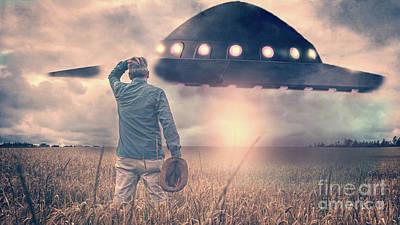 Alien Encounter Poster by Edward Fielding