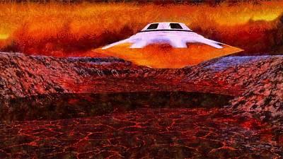 Alien Homeland By Raphael Terra Poster by Raphael Terra