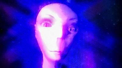 Alien In Space Poster by Raphael Terra