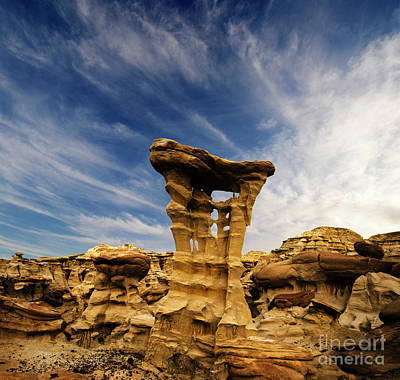 Poster featuring the photograph Alien Throne New Mexico by Bob Christopher