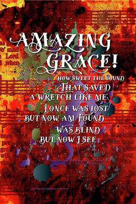 Amazing Grace Poster by Chuck Mountain