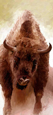 Poster featuring the painting American Bison by James Shepherd