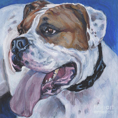 Poster featuring the painting American Bulldog by Lee Ann Shepard