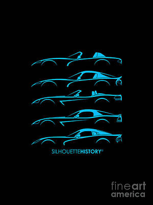 American Snakes Silhouettehistory Poster by Gabor Vida