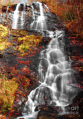 Amicalola Falls In Autumn Poster by Andrew Glisson