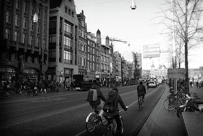 Poster featuring the photograph Amsterdam Traffic by Scott Hovind