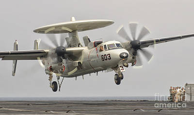 An E-2c Hawkeye Landing On The Flight Poster