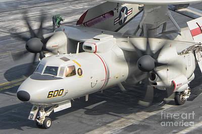 An E-2d Advanced Hawkeye Aboard Uss Poster