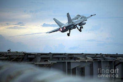 An F A-18 Launches Poster by Celestial Images
