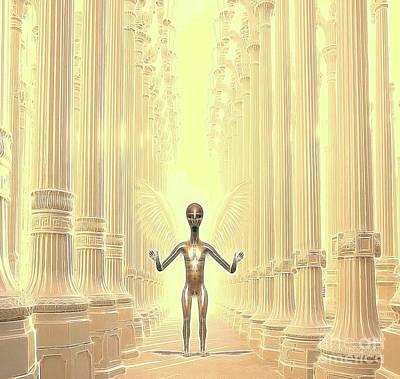 Ancient Alien Angel Poster