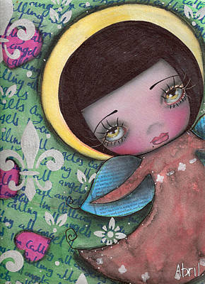 Angel Girl Poster by  Abril Andrade Griffith